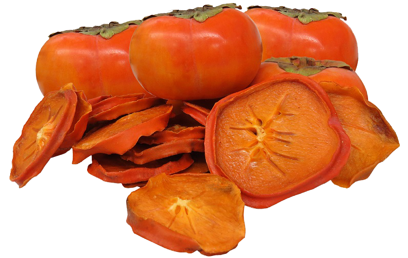 Peeled Persimmon Slices Image